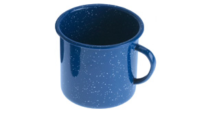 GSI Emaille Tasse