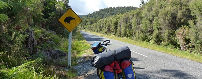 Radreise durch Neuseeland