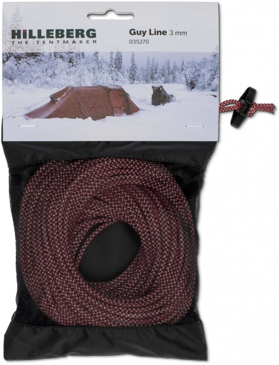 Hilleberg Guy Line, 25 Meter Hilleberg Guy Line, 25 Meter Farbe / color: rot-weiß ()