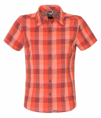 The North Face Womens Short Sleeve Boulder Penelope Woven The North Face Womens Short Sleeve Boulder Penelope Woven Farbe / color: zinfandel red plaid L8A ()