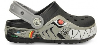 CrocsLights Robo Shark Clog PS CrocsLights Robo Shark Clog PS Farbe / color: black-silver ()