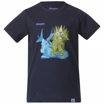 Bergans Troll Kids Tee Bergans Troll Kids Tee Farbe / color: navy ()
