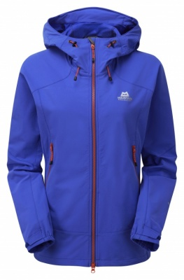 Mountain Equipment Womens Frontier Hooded Jacket Mountain Equipment Womens Frontier Hooded Jacket Farbe / color: celestial blue/alpenglow zips ()