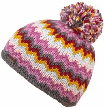 KuSan Bobble Hat ZigZag KuSan Bobble Hat ZigZag Farbe / color: grey yellow ()