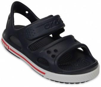 crocs Kinderschuhe - Crocband II Sandal PS Navy White, Größe:30-31