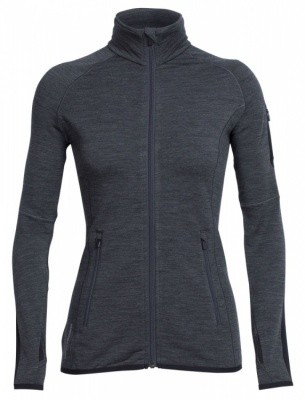 Icebreaker Atom LS Zip Women Icebreaker Atom LS Zip Women Farbe / color: jet heather/black ()