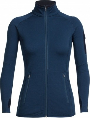 Icebreaker Atom LS Zip Women Icebreaker Atom LS Zip Women Farbe / color: largo/midnight navy ()