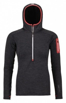 Ortovox Fleece Light Melange Zip Neck Women Ortovox Fleece Light Melange Zip Neck Women Farbe / color: black steel ()