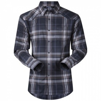 Bergans Bjorli Shirt Bergans Bjorli Shirt Farbe / color: dark navy/night blue check ()