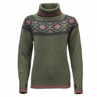 Devold Ona Woman Round Sweater Devold Ona Woman Round Sweater Farbe / color: lichen 404A ()