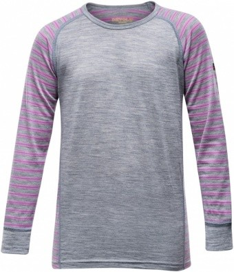 Devold Breeze Junior Shirt Devold Breeze Junior Shirt Farbe / color: peony stripes ()
