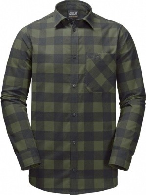 Jack Wolfskin Red River Shirt Jack Wolfskin Red River Shirt Farbe / color: woodland green checks ()