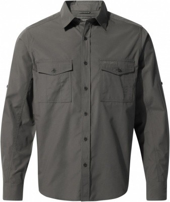 Craghoppers Kiwi Long Sleeved Shirt Craghoppers Kiwi Long Sleeved Shirt Farbe / color: dark grey ()