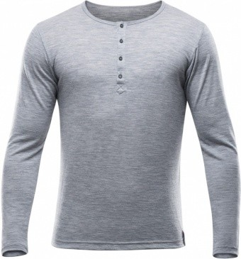 Devold Hessa Man Button Shirt Devold Hessa Man Button Shirt Farbe / color: grey melange ()