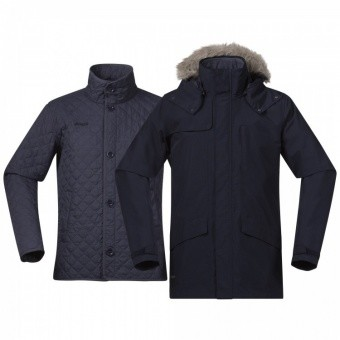Bergans Aune 3in1 Jacket Bergans Aune 3in1 Jacket Farbe / color: dark navy/night blue ()