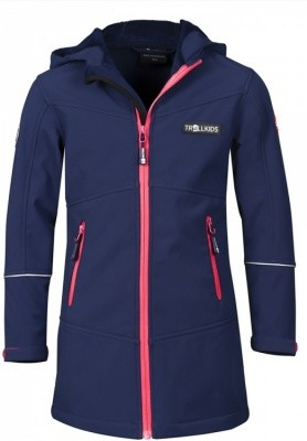 Trollkids Girls Aurland Coat Trollkids Girls Aurland Coat Farbe / color: navy/magenta ()