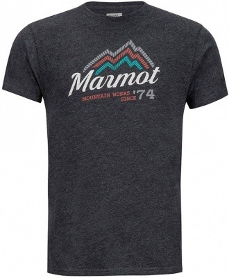 Marmot Beams Tee Short Sleeve Marmot Beams Tee Short Sleeve Farbe / color: charcoal heather ()