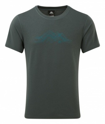 Mountain Equipment Groundup Mountain Tee Mountain Equipment Groundup Mountain Tee Farbe / color: moorland slate ()