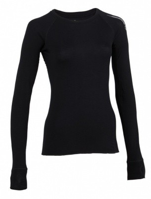 Merinopower Women 2.0 Mountain LS Crew Merinopower Women 2.0 Mountain LS Crew Farbe / color: black ()