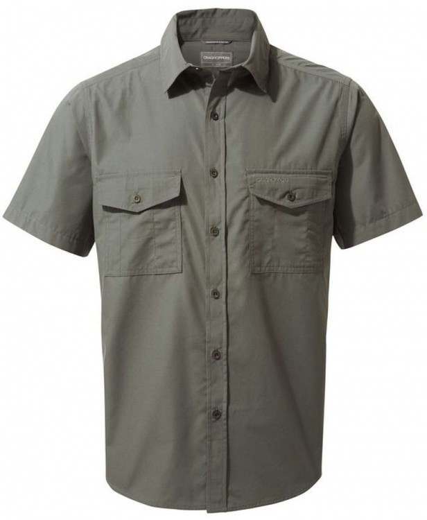 Craghoppers Kiwi Short Sleeved Shirt Craghoppers Kiwi Short Sleeved Shirt Farbe / color: dark grey ()