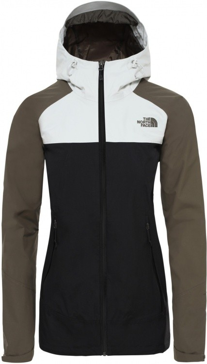 The North Face Womens Stratos Jacket The North Face Womens Stratos Jacket Farbe / color: tnf black/new taupe green/tin grey ()