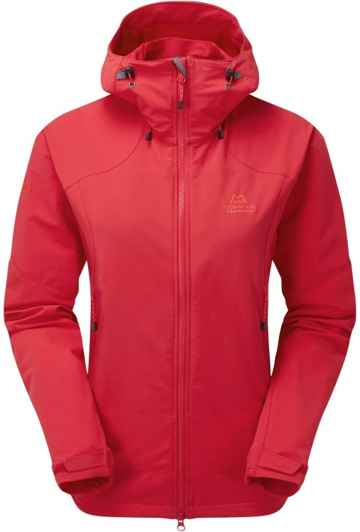 Mountain Equipment Womens Frontier Hooded Jacket Mountain Equipment Womens Frontier Hooded Jacket Farbe / color: capsicum red ()