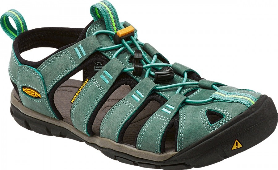 Keen Women Clearwater CNX Leather Keen Women Clearwater CNX Leather Farbe / color: mineral blue/yellow ()