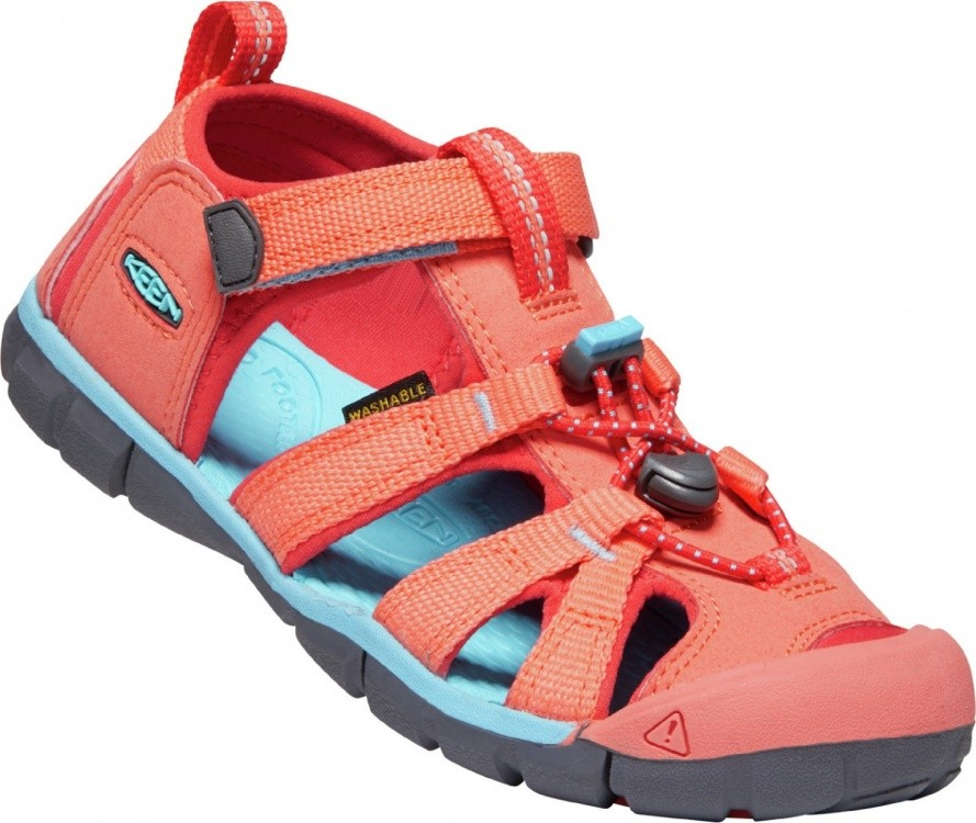 Keen Kids Seacamp II CNX Keen Kids Seacamp II CNX Farbe / color: coral/poppy red ()