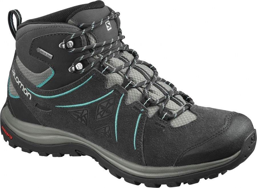 Salomon Ellipse 2 Mid Leather GTX Women Salomon Ellipse 2 Mid Leather GTX Women Farbe / color: phantom/castor grey/aruba blue ()
