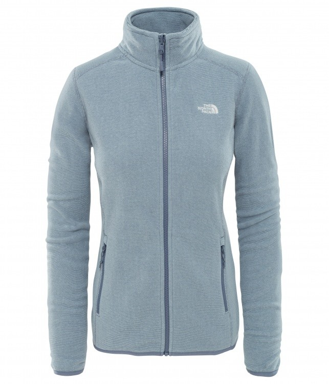The North Face Womens 100 Glacier Full Zip The North Face Womens 100 Glacier Full Zip Farbe / color: grisaille grey flint stone grey strp ()