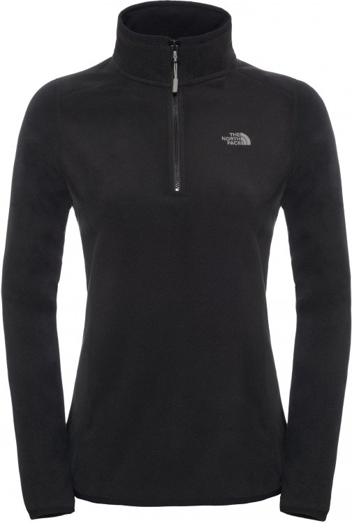 The North Face Womens 100 Glacier 1/4 Zip The North Face Womens 100 Glacier 1/4 Zip Farbe / color: tnf black ()