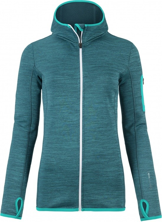 Ortovox Merino Fleece Melange Hoody Women Ortovox Merino Fleece Melange Hoody Women Farbe / color: aqua blend ()