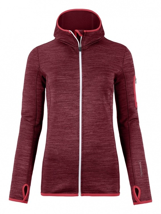 Ortovox Merino Fleece Melange Hoody Women Ortovox Merino Fleece Melange Hoody Women Farbe / color: dark blood blend ()