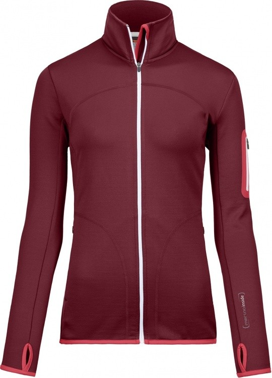 Ortovox Merino Fleece Jacket Women Ortovox Merino Fleece Jacket Women Farbe / color: dark blood ()