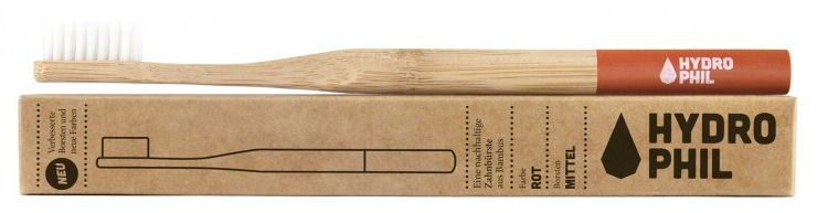 Relags Hydrophil Bamboo-Toothbrush Relags Hydrophil Bamboo-Toothbrush Farbe / color: rot ()