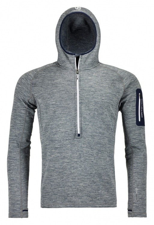 Ortovox Fleece Light Melange Zip Neck Men Ortovox Fleece Light Melange Zip Neck Men Farbe / color: grey blend ()