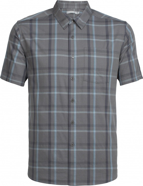 Icebreaker Compass SS Shirt Icebreaker Compass SS Shirt Farbe / color: plaid metal/monsoon ()
