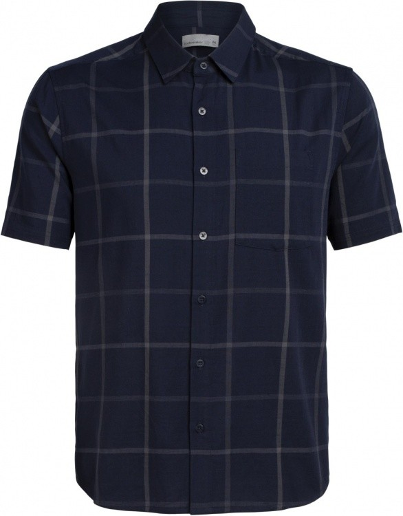 Icebreaker Compass SS Shirt Icebreaker Compass SS Shirt Farbe / color: plaid navy/monsoon ()