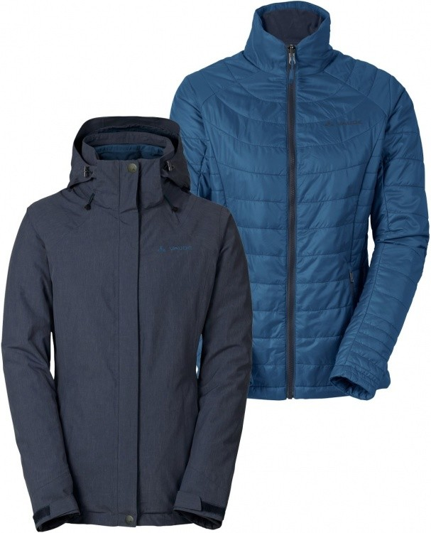 VAUDE Womens Caserina 3in1 Jacket VAUDE Womens Caserina 3in1 Jacket Farbe / color: eclipse fjord ()