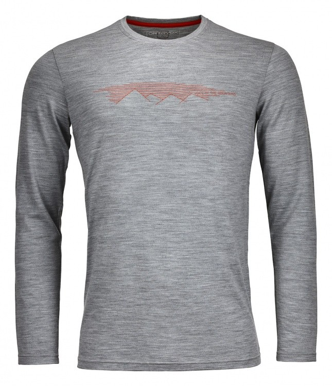 Ortovox Merino Print Mountain Long Sleeve Ortovox Merino Print Mountain Long Sleeve Farbe / color: grey blend ()