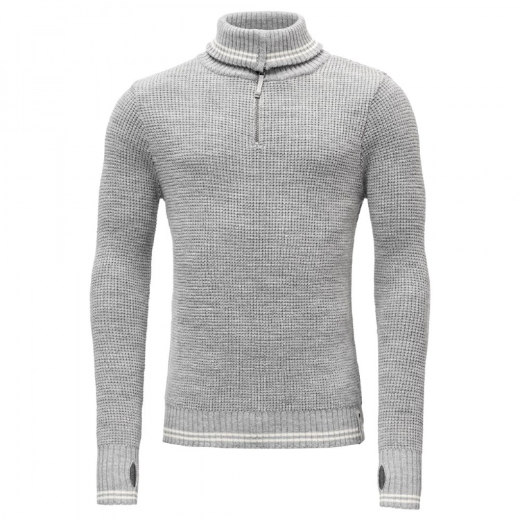 Devold Randers Zip Neck Devold Randers Zip Neck Farbe / color: grey melange/offwhite ()