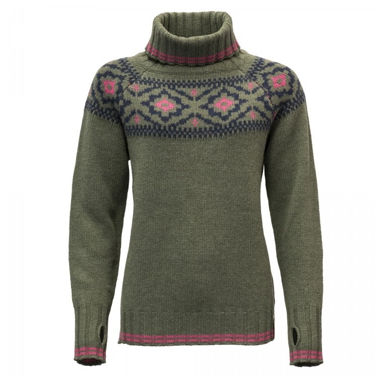 Devold Ona Woman Round Sweater Devold Ona Woman Round Sweater Farbe / color: lichen ()