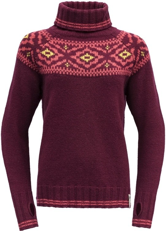 Devold Ona Woman Round Sweater Devold Ona Woman Round Sweater Farbe / color: beetroot ()