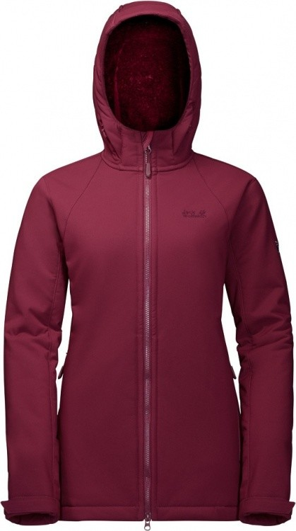 Jack Wolfskin Rock Valley Long Jacket Jack Wolfskin Rock Valley Long Jacket Farbe / color: garnet red ()