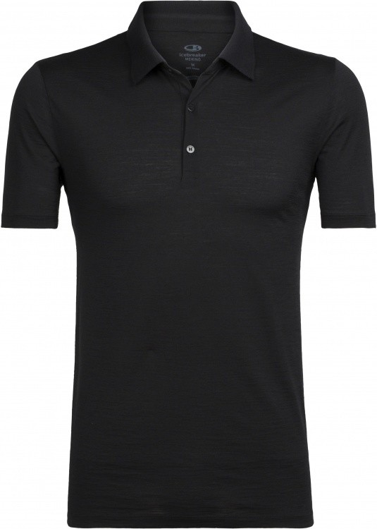 Icebreaker Tech Lite SS Polo Icebreaker Tech Lite SS Polo Farbe / color: black ()