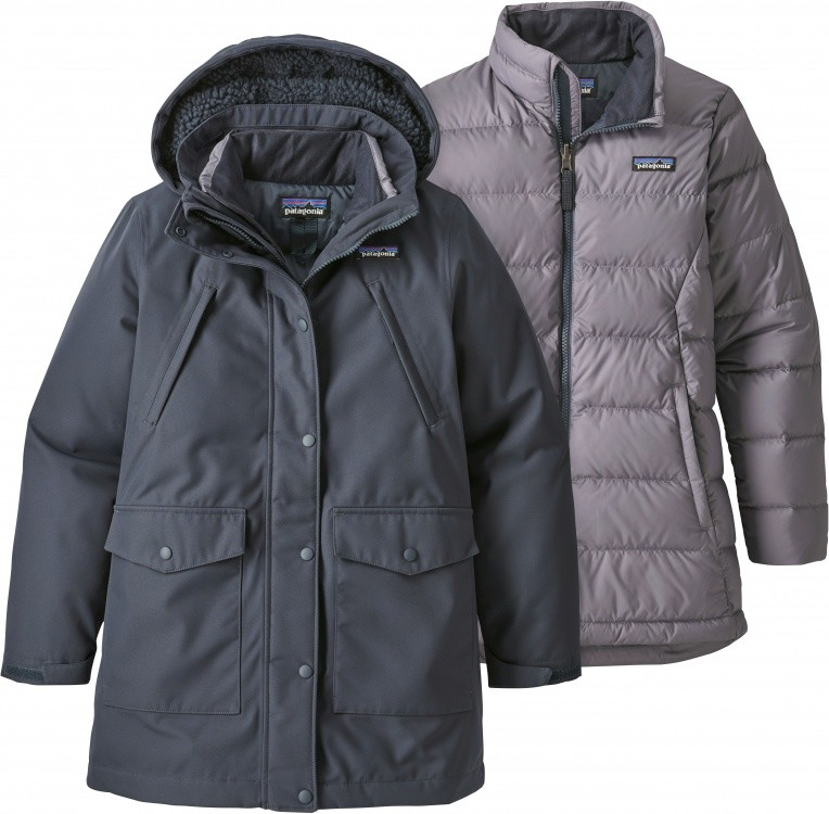 Patagonia Girls Tres 3-in-1 Parka Patagonia Girls Tres 3-in-1 Parka Farbe / color: smolder blue ()