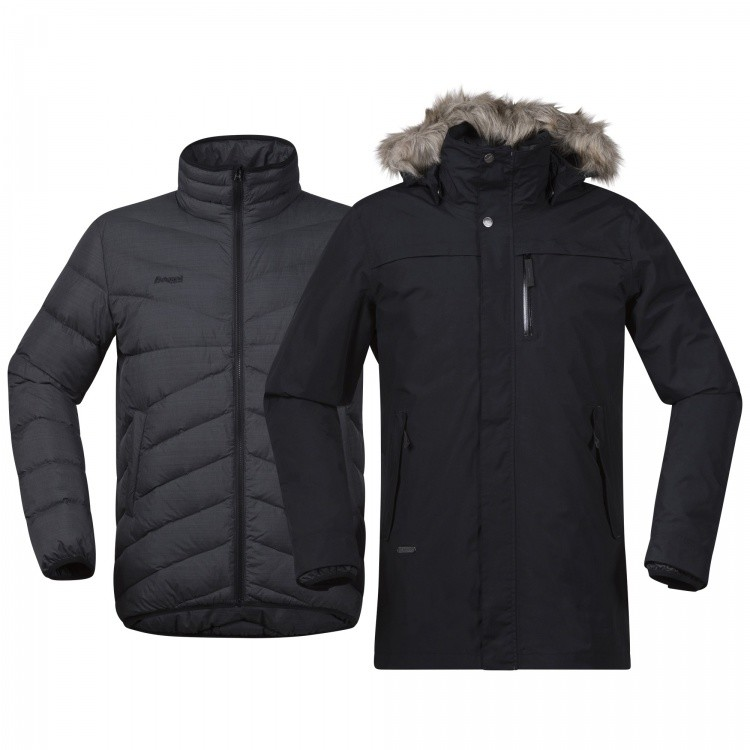 Bergans Sagene 3 in 1 Jacket Bergans Sagene 3 in 1 Jacket Farbe / color: black/solid charcoal ()