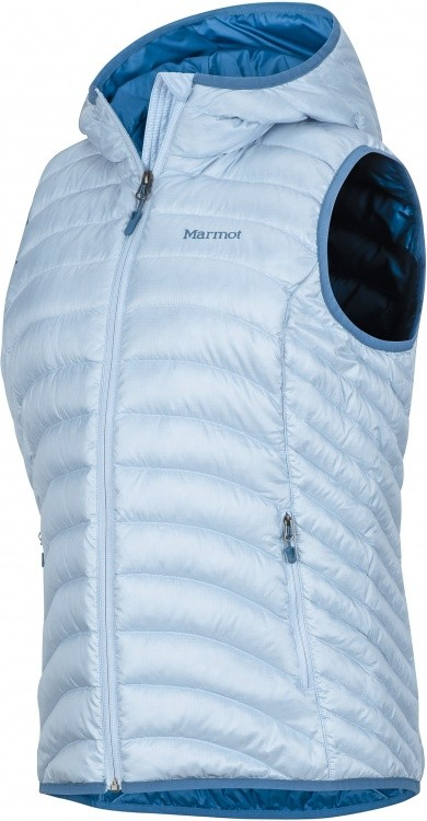 Marmot Womens Bronco Hooded Vest Marmot Womens Bronco Hooded Vest Farbe / color: iceberg ()