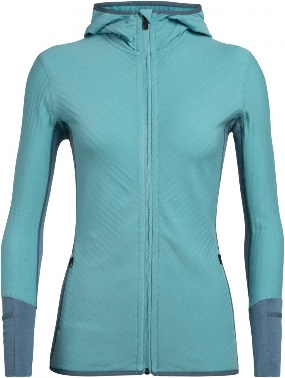 Icebreaker Descender LS Zip Hood Women Icebreaker Descender LS Zip Hood Women Farbe / color: lagoon/blue spruce ()