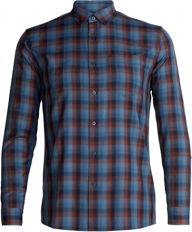 Icebreaker Departure Long Sleeve Shirt Icebreaker Departure Long Sleeve Shirt Farbe / color: plaid midnight navy/gr blue ()